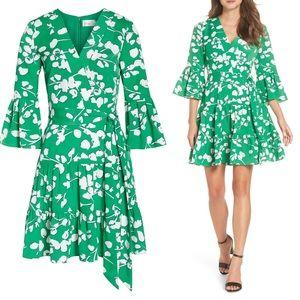 Eliza J Bell Sleeve Faux Wrap Dress
